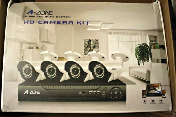 The A-Zone Home Security Camera System can help your home be secure.