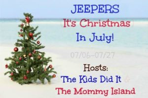 Jeepers It's Christmas In July Button