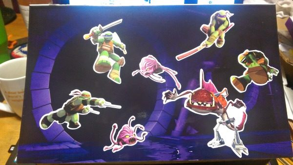 I have a grandson that will LOVE this Teenage Mutant Ninja Turtles Colorforms vinyl clings set!