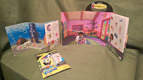 Colorforms Spongebob On-The-Go and Doc McStuffins Take Along vinyl clings sets