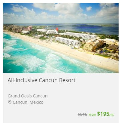 There are even Groupon discounts on VACATIONS!