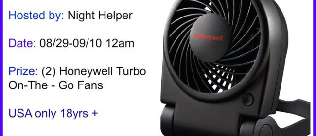 Honeywell Turbo On-The-Go Fan Giveaway! (9/10)