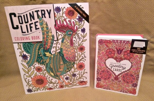 Country Life Coloring Book & Color-Your-Own Greeting Cards by Caitlin Keegan