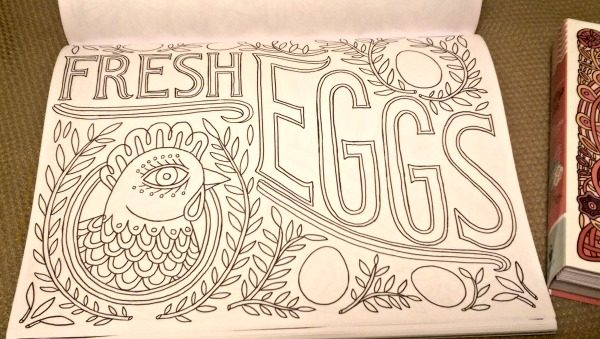 Country Life is a fitting title for this coloring book!