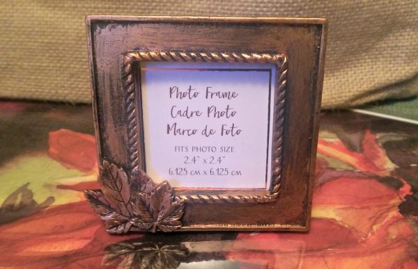 Copper Frame With Leave Fall Wedding Favors