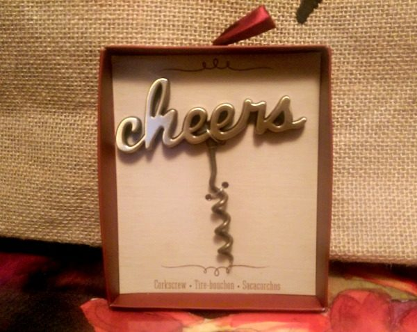 Cheers Antique Gold Corkscrew Fall Wedding Favors