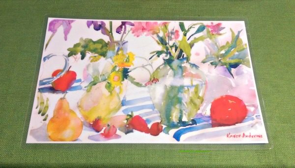 'Watery Floral' placemat from Inner,Vision Studio