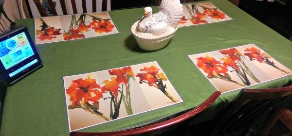 Placemats from Inner Vision Studios HGG