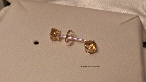 My granddaughter will love these 14K gold post birthstone earrings from KidsGold