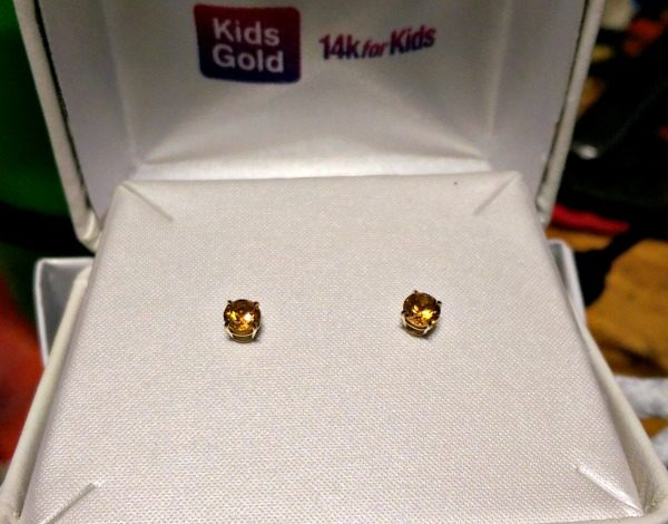 I got these Citrine Birthstone Earrings from KidsGold for my granddaughter at 30% off!