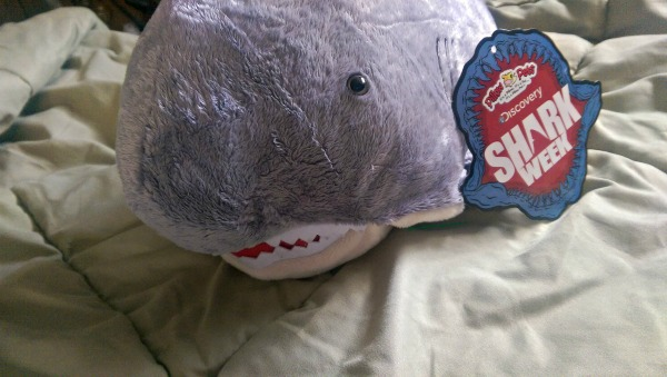 Sharky Shark the Pillow Pet is smiling at you!