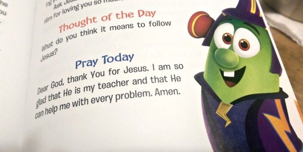 A 'Thought of the Day' and a prayer are on every page of the devotionals too