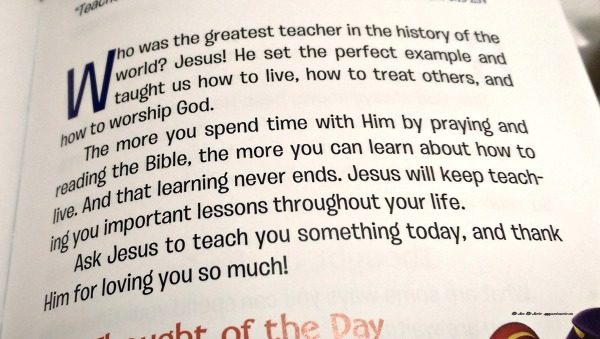 This paragraph tells what the scripture is about in the devotionals