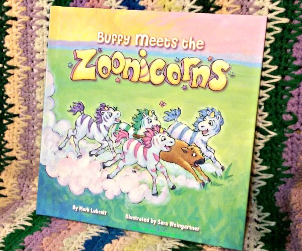 Half unicorn, half zebra Zoonicorns are the stars of this book.