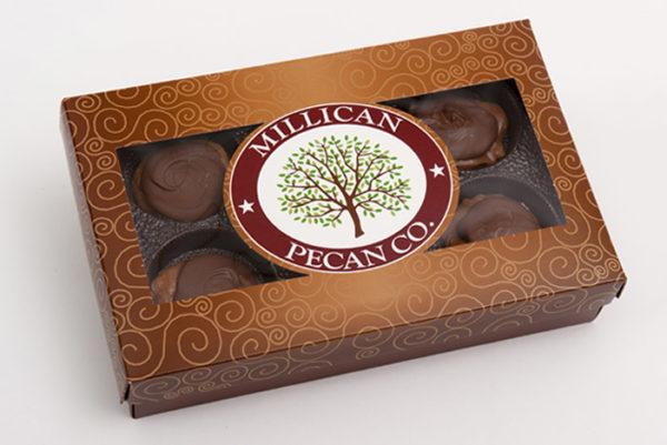 Millican Pecan Company's amazing Milk Chocolate Caramillicans!