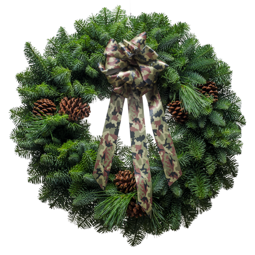 The Camo Christmas Wreath is just one of Christmas Forests beautiful wreaths