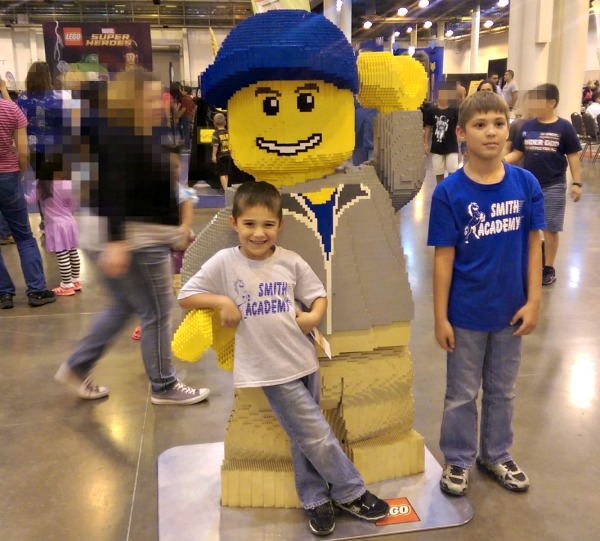 LEGO KidFest has lots of sculptures made entirely of bricks!