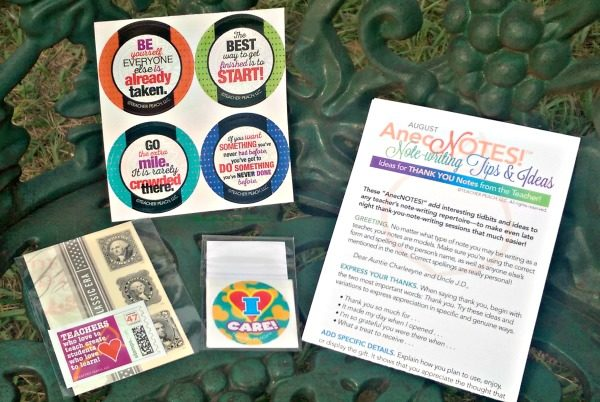 Lots of extras; stickers, stamps and seals are included in the subscription box for teachers.