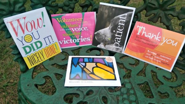 The September subscription box for teachers has four greeting cards, plus a bonus