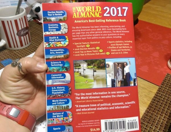 Look at all the information in the World Almanac!