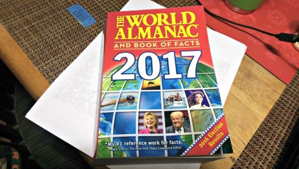 The World Almanac and Book of Facts is full of information!