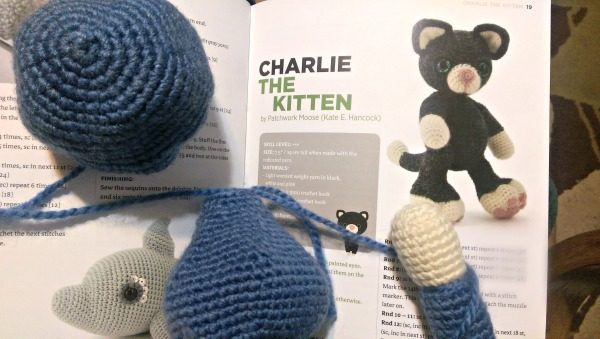 Charlie the Kitten is just one of my rainy day crochet WIP's.