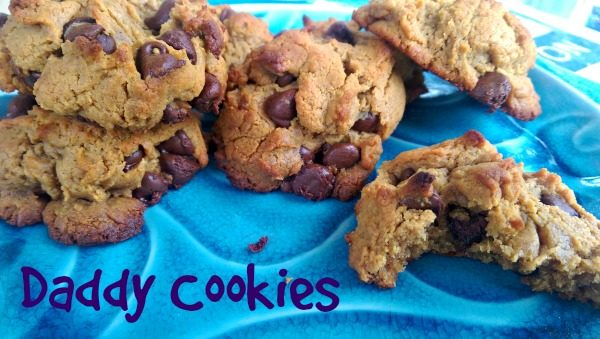 Daddy Cookies are Gluten- and Grain-Free, Peanut Buttery, Chocolate Chip goodness!