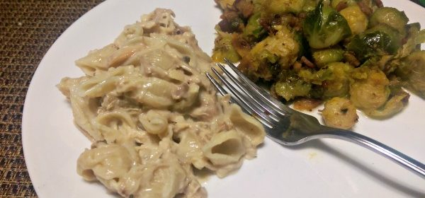 Easy Cheesy Mushroom Chicken Pasta