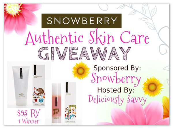 Blogger Opp! Snowberry Authentic Skin Care Giveaway!