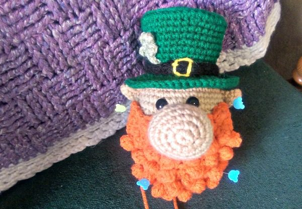This Lucky Leprechaun just needs his boots and he'll be done!