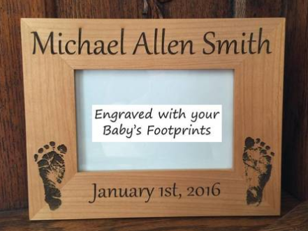 An example of a Footprint gift from Lauren Nicole Gifts. Grandparents would love this!