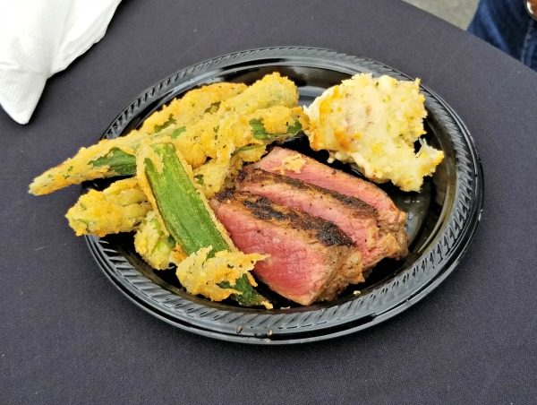 LongHorn Ribeye, Fried Okra, and Famous LongHorn Mac & Cheese. Can't wait for next year's SteakMaster Series!
