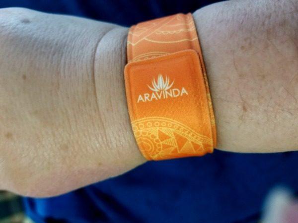 "The ""Energized"" MOJO Aromatherapy slap bracelet."