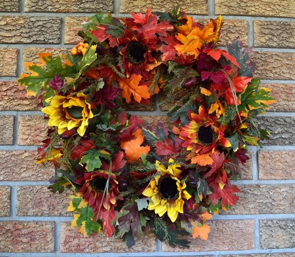 There's nothing like being welcomed home by a beautiful Fall wreath on the front door.
