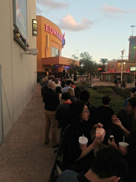 The line to get into the movie on our date night