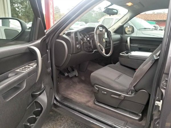 The inside of my new 2010 Chevy truck has plenty of luxury!