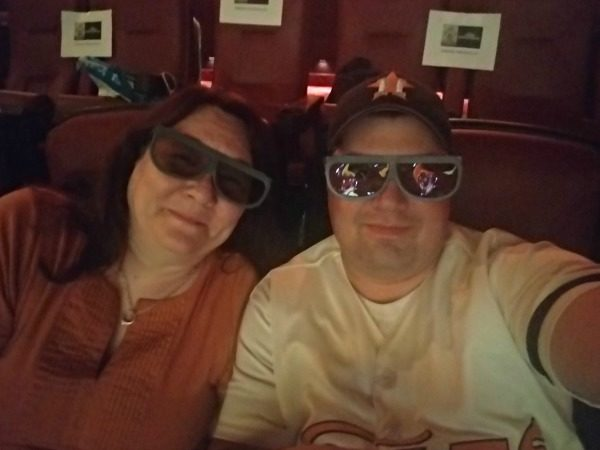 A selfie with my son, at THOR: RAGNAROK which is coming soon to DVD